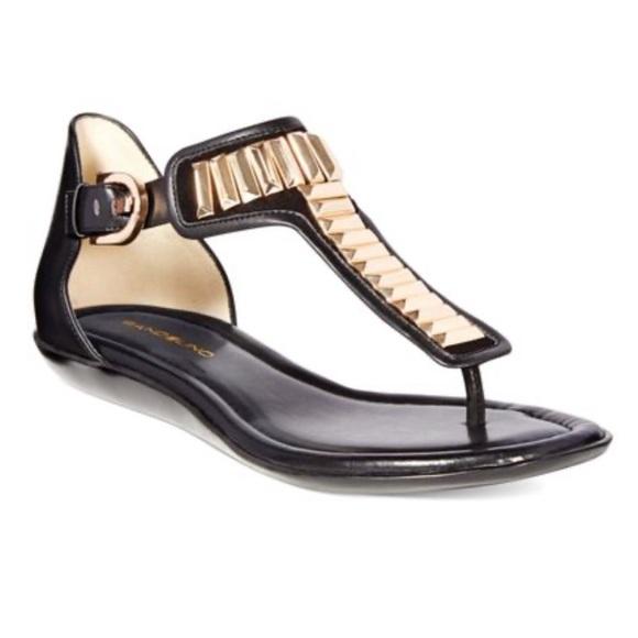 Bandolino Shoes - Bandilino Jagger Sandal Black/Gold SZ 7